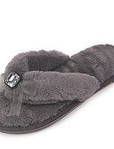 cheap Robes & Sleepwear-Women's Slippers House Slippers Ordinary Terry Bowknot