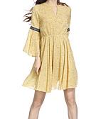 povoljno Ženske haljine-Žene Izlasci Šifon Haljina Do koljena Visoki struk