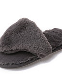 cheap Smartwatches-Women's Slippers House Slippers Ordinary Cashmere solid color