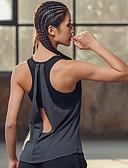 ieftine Pantaloni de Damă-Pentru femei Eliminat / Open Back Tricou Sutien de Yoga - Gri Sport Modă Tank Tops Yoga, Alergat, Fitness Fără manșon Îmbrăcăminte de Sport Ușor, Uscare rapidă, Respirabil Strech