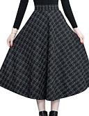 ieftine Fuste de Damă-Pentru femei Leagăn De Bază Fuste - Plisat Talie Înaltă
