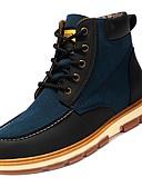 abordables Relojes Deportivo-Hombre PU Otoño Botas de Moda Botas Mitad de Gemelo Bloques Negro / Marrón / Azul