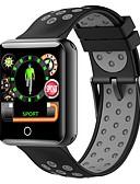 baratos Smartwatches-Pulseira inteligente q18 para Android iOS Bluetooth Esportivo Impermeável Monitor de Batimento Cardíaco Medição de Pressão Sanguínea Calorias Queimadas Cronómetro Podômetro Aviso de Chamada Monitor