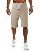 ieftine Pantaloni Bărbați si Pantaloni Scurți-Bărbați De Bază Bumbac Larg Pantaloni Chinos Pantaloni - Mată Gri / Primăvară / Vară / Sfârșit de săptămână
