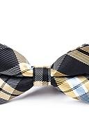 levne Pánské motýlky a kravaty-Pánské Party / Základní Mašle Motýlek - Barevné bloky / Pléd / Patchwork
