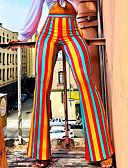 זול Jackets-צועד - פסים ספורטיבי / Temel מותן בינוני יומי / ליציאה בגדי ריקוד נשים