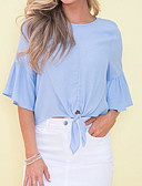cheap Women's Hoodies & Sweatshirts-Women's Going out Blouse - Solid Colored