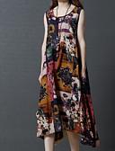 tanie Print Dresses-Damskie Podstawowy Zmiana Sukienka Asymetryczna