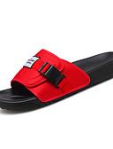 זול חולצות לגברים-בגדי ריקוד גברים קנבס / כותנה קיץ נוחות כפכפים & כפכפים שחור / אדום / כחול