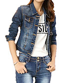 cheap Women's Blouses-Women's Basic Denim Jacket - Solid Colored