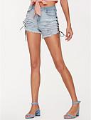 billige T-skjorter og singleter til herrer-Dame Aktiv Shorts Bukser Ensfarget BLå & Hvit