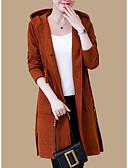 preiswerte Damen Pullover-Damen Langarm Lang Strickjacke - Solide Mit Kapuze