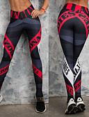 hesapli Erkek Tişörtleri ve Atletleri-Kadın's Yoga Pantolonları Spor Dalları Harf Tozluklar Alt Giyimler Zumba Koşma Spor Salonu Egzersizi Aktif Giyim Nefes Alabilir Hızlı Kuruma Sıkıştırma Popo Kaldırma Squat Proof Streç Dar