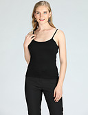 cheap Women's Tops-Suzanne Betro Women's Basic Skinny Tank Top - Solid Colored Strap / Sleeveless / Spring / Summer