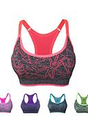 ieftine Sweater Dresses-Pentru femei Cămașă Racer Sutien Top - Rosu, Verde, Albastru Sport Modă Topuri Yoga, Alergat, Fitness Îmbrăcăminte de Sport Uscare rapidă, Respirabil, Κατά του ιδρώτα Micro-elastic
