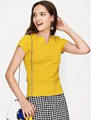 tanie T-shirt-T-shirt Damskie Vintage Jendolity kolor