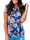 ieftine Tricou-Pentru femei Tricou Ieșire Floral