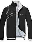 hesapli Erkek Ceketleri ve Kabanları-Erkek Günlük Normal Ceketler, Çağdaş Dik Yaka Uzun Kollu Polyester Havuz / Siyah / YAKUT