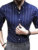 preiswerte Herrenhemden-Herrn Gestreift / Einfarbig Hemd