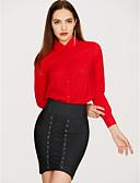 ieftine Bluză-Pentru femei Guler Cămașă - Mărime Plus Size Bluză Mată