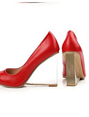 cheap Women's Coats & Trench Coats-Women's Nappa Leather Spring Basic Pump Heels Wedge Heel White / Black / Red / Daily