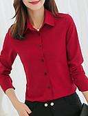 tanie Koszula-Koszula Damskie Kołnierzyk koszuli Solidne kolory
