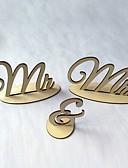olcso Menyasszonyi fátyol-Esküvő / Különleges alkalom Fa Esküvői dekoráció Ünneő / Esküvő / Család Minden évszak