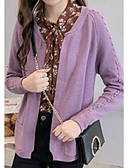 cheap Women's Scarves-women's long sleeve cardigan - solid colored v neck