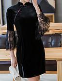 povoljno Ženske haljine-Žene A kroj Haljina Jednobojni Iznad koljena