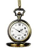 رخيصةأون ساعات فاخرة-للرجال ساعة جيب كوارتز نقش جوفاء أشابة فرقة مماثل قديم هيكل عظمي برونز - برونز