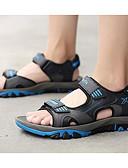 ieftine Tricou-Bărbați Pantofi de confort Piele Vară Sandale Portocaliu / Gri / Albastru