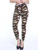 preiswerte Damen Leggings-Damen Alltag Grundlegend Legging - camuflaje Mittlere Taillenlinie