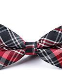 abordables Cravates & Noeuds Papillons pour Homme-Homme Soirée / Basique Noeud Papillon - Noeud, Rayé / Couleur Pleine / Tartan