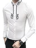 baratos Suéteres & Cardigans Masculinos-Homens Camisa Social Moda de Rua Floral