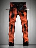 ieftine Pantaloni Bărbați si Pantaloni Scurți-Bărbați Activ Mărime Plus Size Bumbac Zvelt Blugi Pantaloni - camuflaj Găurite Portocaliu