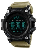 cheap Men's Downs & Parkas-SKMEI Men's Sport Watch Digital Watch Digital 50 m Water Resistant / Water Proof Bluetooth Calendar / date / day PU Band Digital Luxury Casual Black / Blue / Red - Blue Khaki Camouflage Green