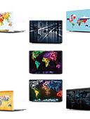 """זול אביזרים ל-MacBook-MacBook נרתיק מפה / דמות מצוירת בתלת מימד PVC ל MacBook Pro 13""""החדש / מקבוק אייר13אינץ' / MacBook 12''"""