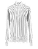 tanie Swetry damskie-Damskie Golf Pulower Solidne kolory Długi rękaw