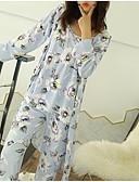 billige Robes & Sleepwear-Dame Dyp V Dress Pyjamas - Blomstret