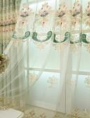 hesapli Gelin Annesi Elbiseleri-Şeffaf Perde Shades Yatakodası Çiçekli / Geometrik Polyester Nakış süslü