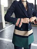 tanie Dwuczęściowe komplety damskie-Damskie Bawełna Marynarka Kolorowy blok Kołnierzyk koszuli Nogawka