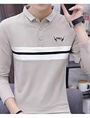 povoljno Muške majice i potkošulje-Majica s rukavima Muškarci Izlasci / Vikend Prugasti uzorak