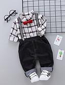 billige BabyGutterdrakter-Baby Gutt Aktiv / Grunnleggende Daglig Trykt mønster Langermet Normal Polyester Tøysett Rød