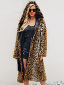cheap Men's Jackets & Coats-Long Sleeve Faux Fur Wedding / Party / Evening Women's Wrap With Leopard Print Coats / Jackets