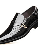זול מכנסיים ושורטים לגברים-בגדי ריקוד גברים מיקרופייבר אביב נוחות נעליים ללא שרוכים שחור / חום
