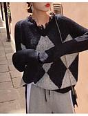 povoljno Ženski džemperi-Žene Osnovni Pullover - Kolaž, Geometrijski oblici
