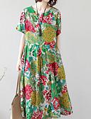 baratos Vestidos de Mulher-Mulheres Básico balanço Vestido Altura dos Joelhos