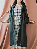 preiswerte Damenmäntel und Trenchcoats-Damen - Solide Trench Coat Baumwolle