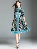 tanie Dwuczęściowe komplety damskie-Damskie Moda miejska Koszula - Nadruk, Geometric Shape Spódnica