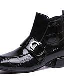 olcso Print Dresses-Női Fashion Boots PU Ősz Alkalmi Csizmák Alacsony Bokacsizmák Fekete